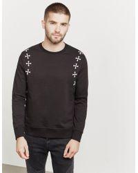 Neil Barrett - Mens Military Star Sweatshirt Black - Lyst