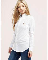 Polo Ralph Lauren - Womens Oxford Shirt White - Lyst