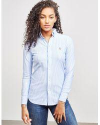 Polo Ralph Lauren - Womens Heidi Long Sleeve Shirt Blue - Lyst