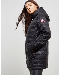 Canada Goose - Womens Camp Hooded Padded Jacket - Online Exclusive Black - Lyst