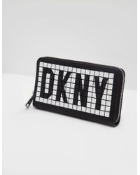DKNY - Womens Tilly Letter Purse Black - Lyst