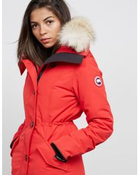 Canada Goose - Womens Rossclair Padded Parka Jacket Red - Lyst