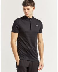 Antony Morato - Mens Plaque Short Sleeve Polo Shirt Black - Lyst