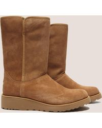 UGG - Womens Amie Short Wedge Boot Brown - Lyst