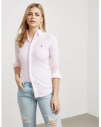 Polo Ralph Lauren - Womens Heidi Long Sleeve Shirt Pink - Lyst