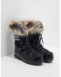 Moon Boot - Womens Tall Fur Boots - Online Exclusive Black - Lyst