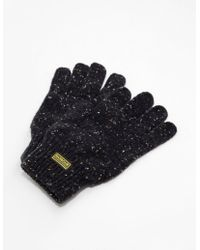 Barbour - Mens International Knit Gloves - Online Exclusive Black - Lyst