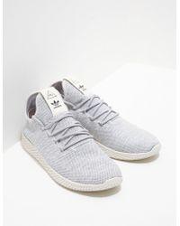 adidas Originals - Mens X Pharrell Williams Tennis Hu Primeknit Grey - Lyst