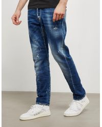 DSquared² - Mens Kenny Straight Jeans Blue - Lyst