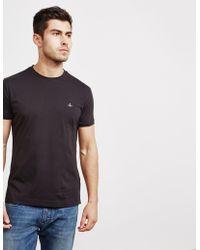 Vivienne Westwood - Mens Orb Short Sleeve T-shirt Black - Lyst