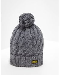 0f3d6b93cbba3 Barbour - Bobble Hat - Exclusively To Tessuti Grey - Lyst