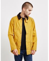 Barbour - Mens Made For Japan Garment Dyed Bedale Jacket Yellow - Lyst