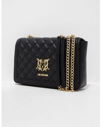 Love Moschino - Womens Quilted Shoulder Bag Black - Lyst
