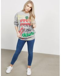 Vivienne Westwood - Womens Anglomania Square Sweatshirt Grey - Lyst