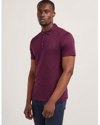 Michael Kors - Mens Sleek Short Sleeve Polo Shirt Purple - Lyst