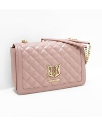 Love Moschino - Womens Quilted Shoulder Bag Pink - Lyst