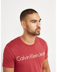 CALVIN KLEIN 205W39NYC - Mens Treasure Short Sleeve T-shirt Red - Lyst