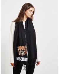 Moschino - Womens Sequin Bear Scarf Black - Lyst