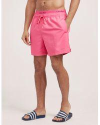 CALVIN KLEIN 205W39NYC - Mens Double Waistband Swim Shorts Pink - Lyst