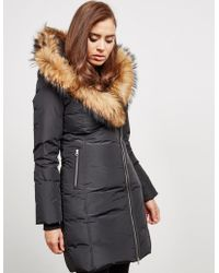 Mackage - Womens Trish Fur Padded Jacket Black - Lyst