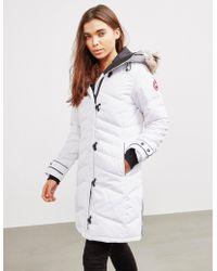 Canada Goose - Womens Lorette Parka Jacket White - Lyst
