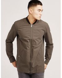HUGO - Mens Zip Overshirt Green - Lyst