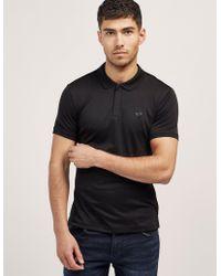Armani Jeans - Mens Jersey Short Sleeve Polo Shirt Black - Lyst