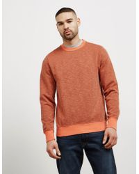 PS by Paul Smith - Mens Garment Dyed Crew Sweatshirt Orange - Lyst