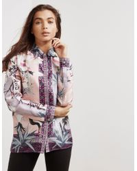 Versace - Womens Graphic Print Shirt - Online Exclusive Pink - Lyst