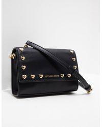 Michael Kors - Womens Love Stud Shoulder Bag Black - Lyst