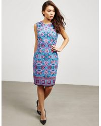 Versace - Womens Woven Printed Dress - Online Exclusive Blue - Lyst