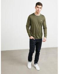 Fred Perry - Mens Tipped Long Sleeve T-shirt - Exclusive - Exclusively To Tessuti Green - Lyst