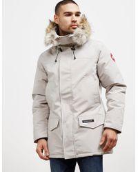 Canada Goose - Mens Langford Padded Parka Jacket Grey - Lyst