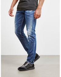DSquared² - Mens Paint Slim Fit Jeans Blue - Lyst