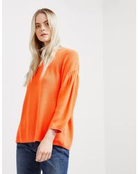 BOSS - Womens Westona Sweatshirt Orange - Lyst