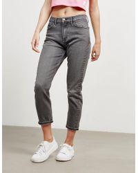 Calvin Klein - Womens High Rise Slim Fit Jeans Grey - Lyst