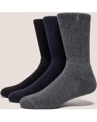 Polo Ralph Lauren - Mens 3-pack Socks Multi - Lyst