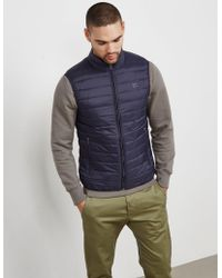 Armani Jeans - Mens Down Padded Gilet Navy, Navy - Lyst