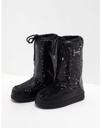Love Moschino - Womens Glitter Boots Black - Lyst