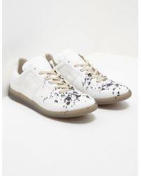 840613f20cb Maison Margiela - Mens Replica Trainers - Online Exclusive White - Lyst