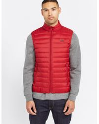 Armani Jeans - Mens Down Padded Gilet Red - Lyst