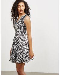 Versus - Womens Print V-neck Dress - Online Exclusive Black - Lyst