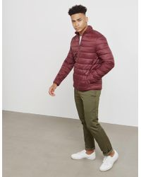 Barbour - Mens Penton Quilted Jacket Red - Lyst