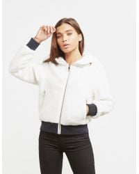Tommy Hilfiger - Womens Annabel Terry Reversible Bomber Jacket White - Lyst