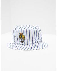 Polo Ralph Lauren Bear Reversible Bucket Hat White