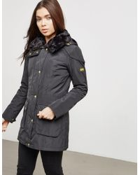 Barbour - Womens International Garrison Padded Jacket Black - Lyst