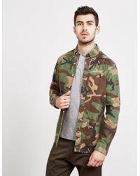 Polo Ralph Lauren - Mens Camouflage Long Sleeve Shirt - Online Exclusive Green - Lyst