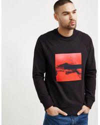 Neil Barrett - Liquid Ink Patch Cotton Sweatshirt - Lyst