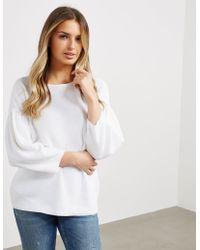 BOSS - Womens Westona Sweatshirt White - Lyst