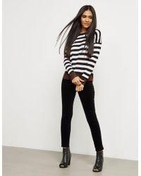 Rag & Bone - Womens June Crew Knitted Jumper - Online Exclusive Black - Lyst